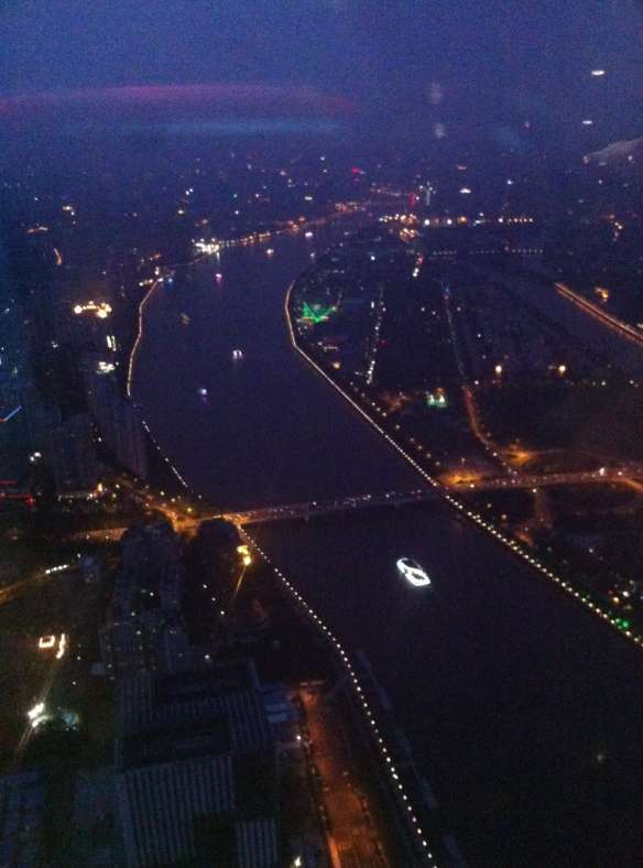 canton tower, guangzhou, pearl river