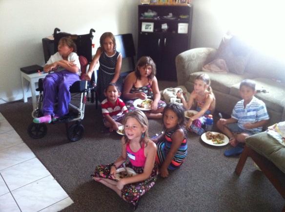 From left: Celeste, Sadie, Jose, Sydnie, Ariana, Shane, Sofia and Faelynn.