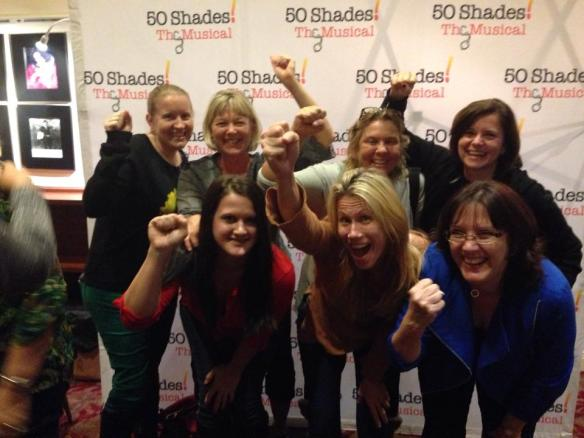 Saw 50 Shades the Musical (which was HYSTERICAL!!!!) with my girlies!